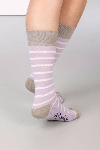 Lilac - Striped Ankle Socks