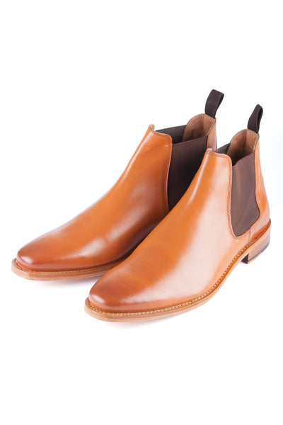 Tan - Gents Leather Chelsea Boots