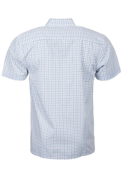 Tattersall Blue - Short Sleeved Country Check Shirts