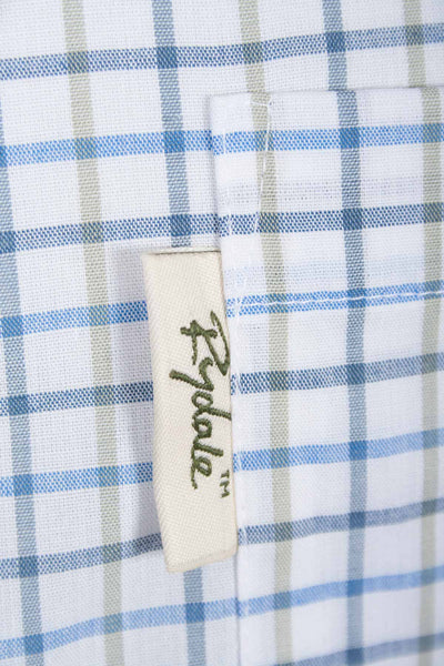 Tattersall Blue - Mens Rydale Short Sleeved Shirt