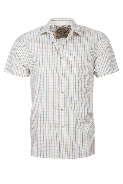 Tattersall Green - Mens Easy Care Short Sleeved Shirt