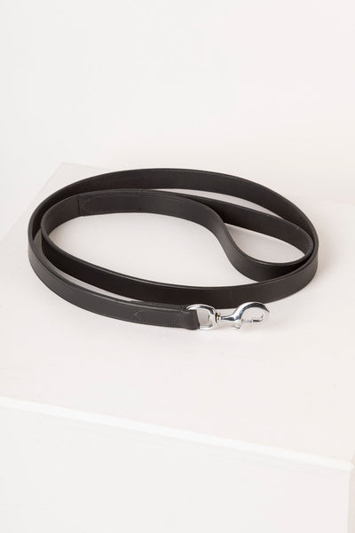 Black - Thick Dog Lead - Leather