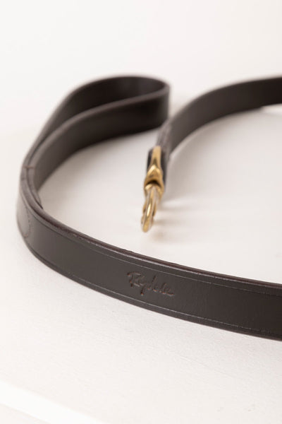 Brown - Thick Dog Lead - Leather