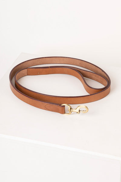 Tan - Thick Dog Lead - Leather