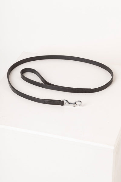 Black - Thin Dog Lead - Leather