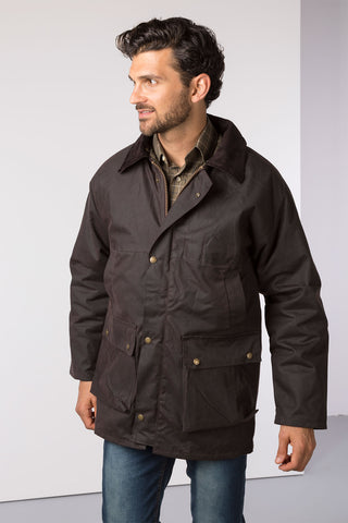 Brown - Mens Thirsk Wax Jacket