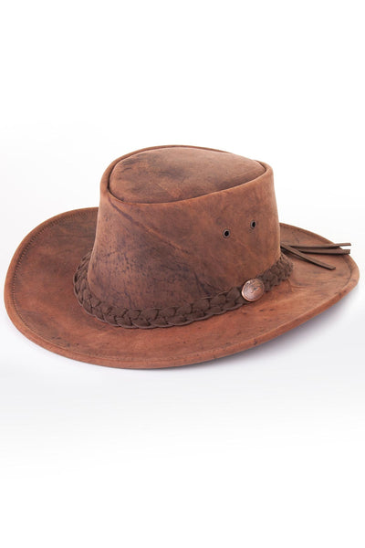 Tobacco - Brown Leather Hats