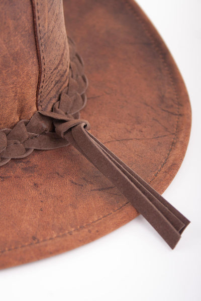 Tobacco - Antique Finish Leather Hats