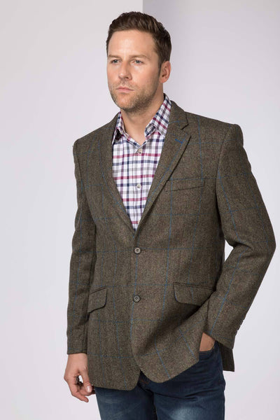 Mens Yorkshire Tweed Blazer Uk Slim Fitting Tweed Jacket Rydale