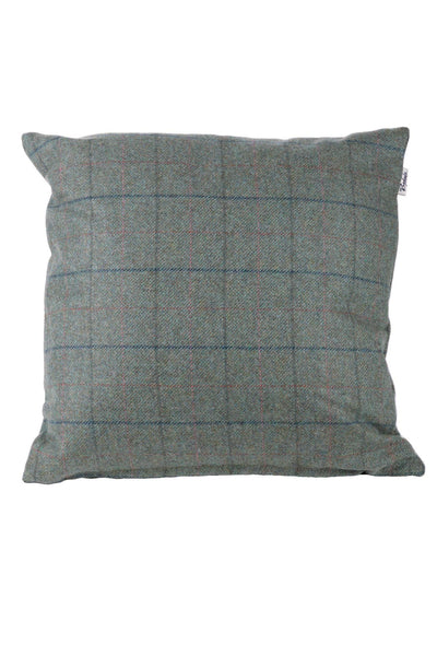 Blue Check - Tweed Cushion