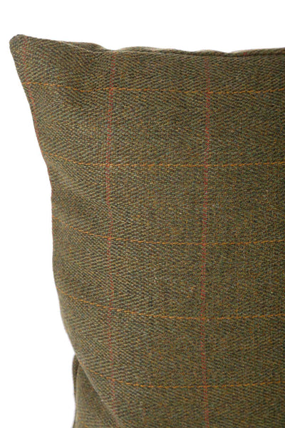 Dark Check - Tweed Cushion