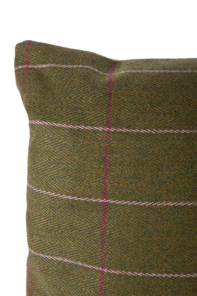 Light Green/Pink - Tweed Cushion