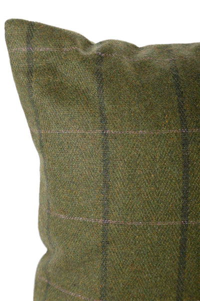 Olive/Pink - Tweed Cushion