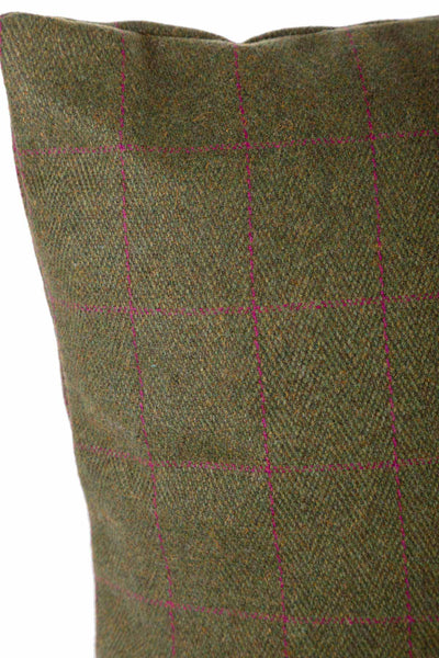 Plum - Tweed Cushion