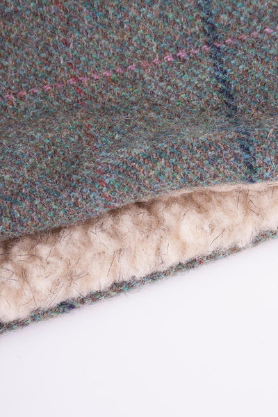 Blue Check - Sherpa Linda Tweed Headband