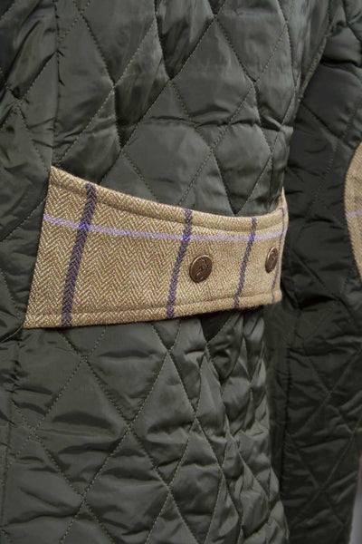 Olive - Ladies Quilt Jacket With Luxury Trims