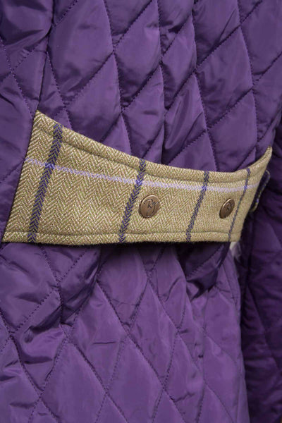 Dark Purple - Ladies Quilt Jacket With Luxury Trims