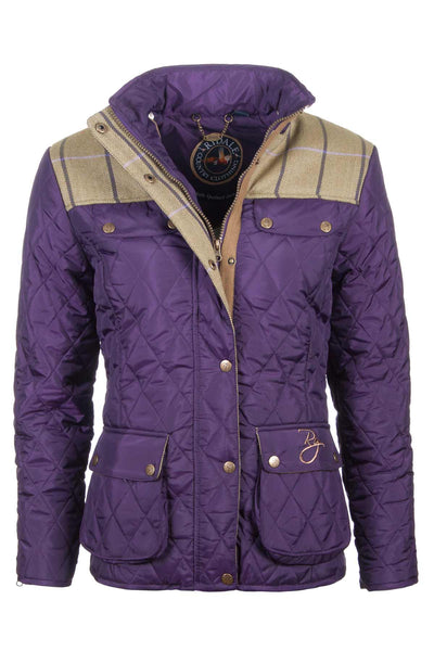 Dark Purple - Soft Quilted Biker Babe Jacket