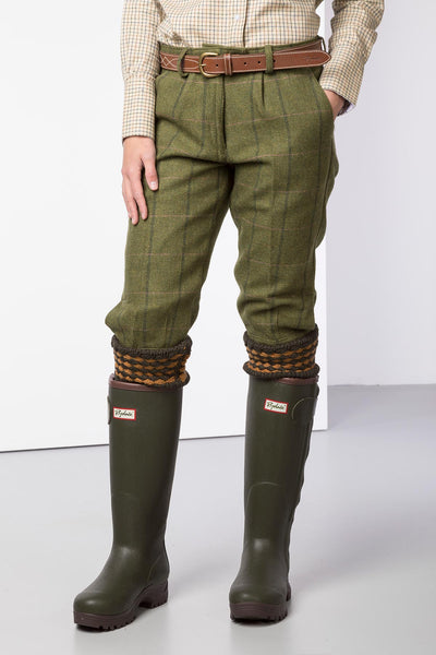 Olive/Pink - Ladies Tweed Shooting Breeks