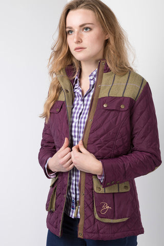 Tweed Trim Quilted Jacket