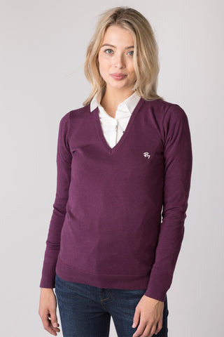 Ladies V Neck Jumper