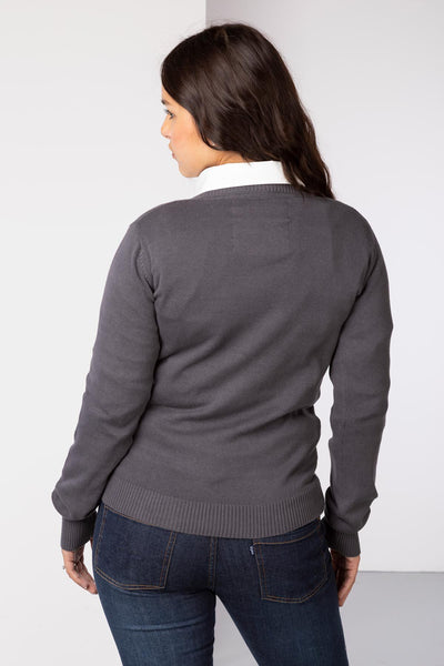 Dark Charcoal - Fine Knit Sweater
