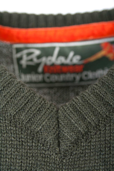 Olive - Boys V Neck Country Sweater