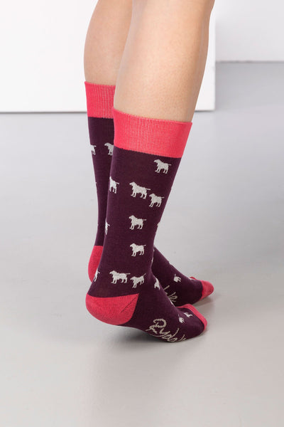 Berry - Wagging Dog Ankle Socks