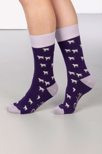 Grape - Wagging Dog Ankle Socks