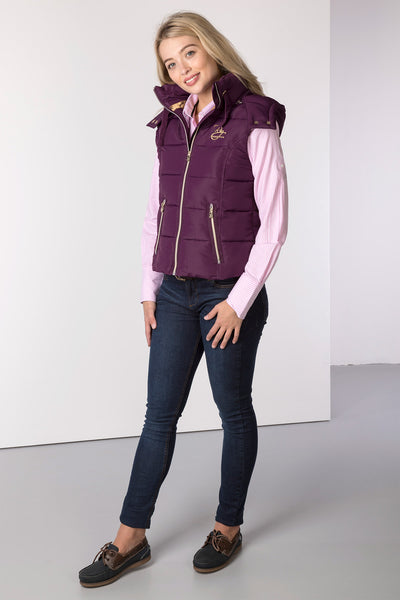 Berry - Ladies Wansford II Hooded GIlet