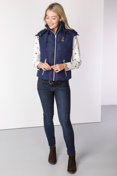 Navy - Ladies Wansford II Hooded GIlet