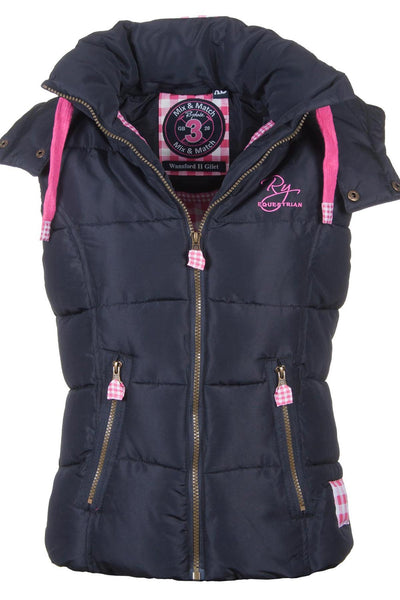 Nearly Black - Wansford Hooded Rydale Gilet