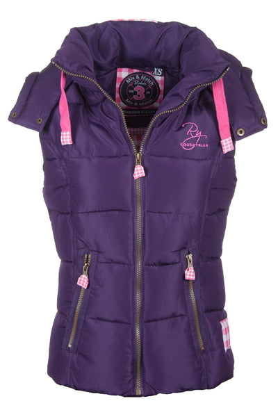 Purple - Wansford Hooded Rydale Gilet