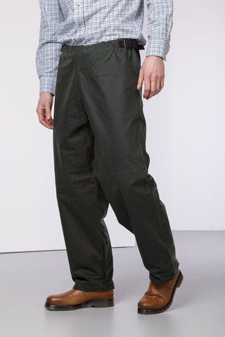 Olive - Waxed Cotton Overtrousers