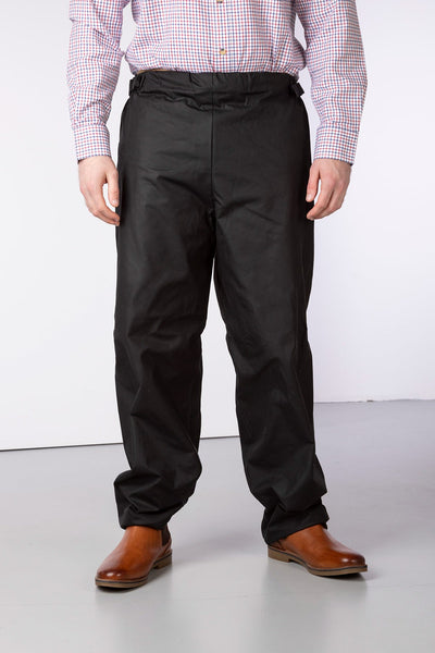 Black - Waterproof Wax Cotton Overtrousers