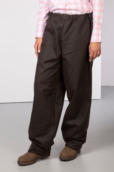Brown - Waxed Cotton Overtrousers