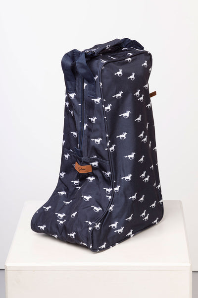 Galloping Horse Navy - Wellington Boot Bag