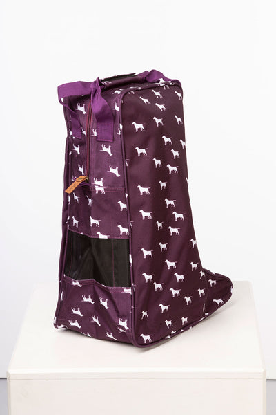 Wagging Dog Berry - Wellington Boot Bag