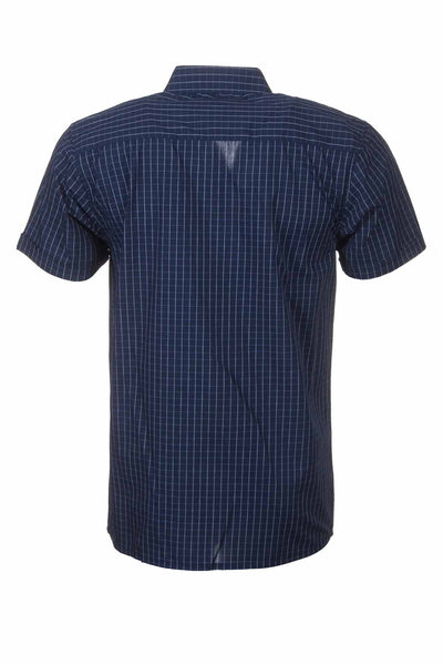 Whitby Navy - Short Sleeved Country Check Shirts