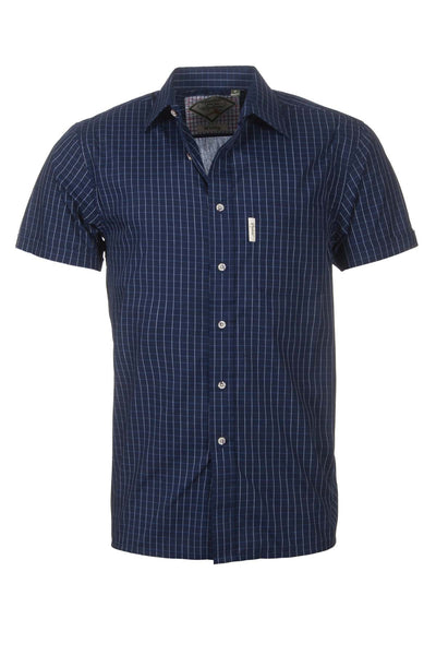 Whitby Navy - Mens Easy Care Short Sleeved Shirt