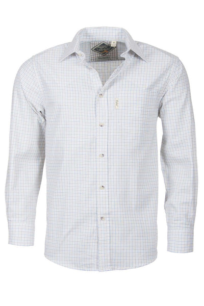 Wetherby White - Mens Long Sleeved Check Shirts