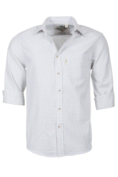 Wetherby White - Mens 100% Cotton Long Sleeved Shirts