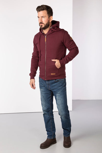 Claret - William Full Zip Hoody