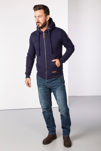 Navy - William Full Zip Hoody