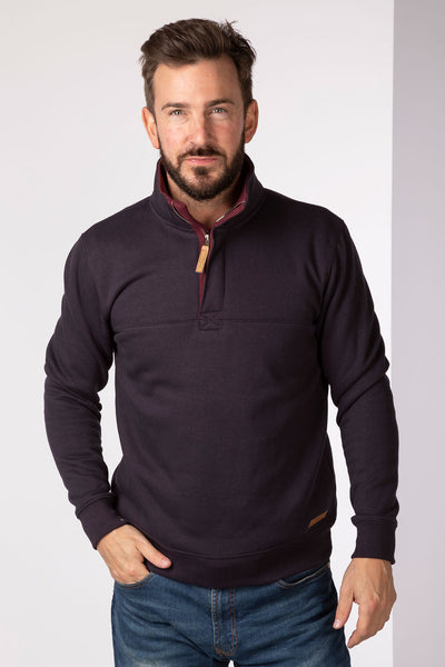 Carbon - William Half Zip Sweatshirt