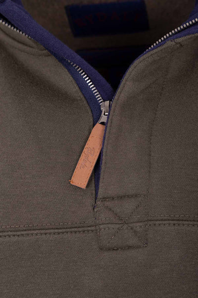 Khaki - William Half Zip Sweatshirt