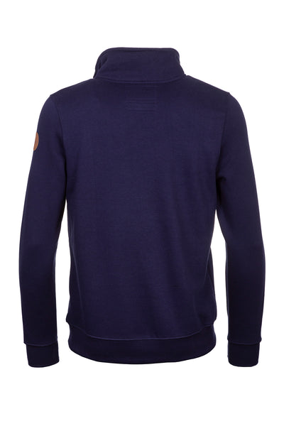 Navy - William Half Zip Sweatshirt