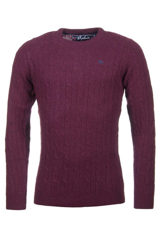 Wine - Mens Classic Crew Neck Sweater