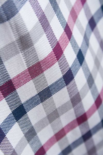 Otley Wine - Mens Country Checked Shirt