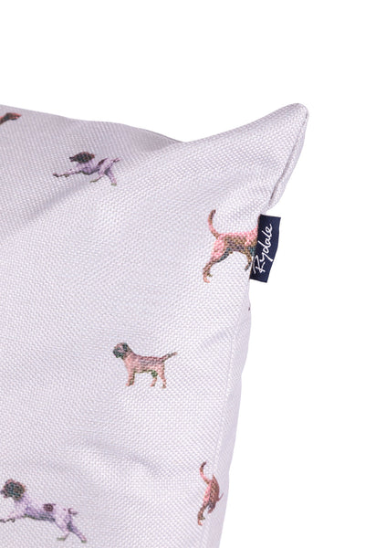 Country Dog White - Wistow Large Country Print Cushion